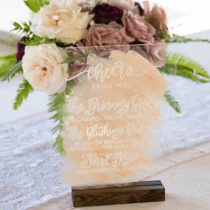 Melody Lane Press - Custom Wedding Bar Menu Sign