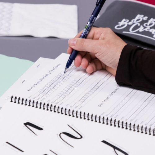 Melody Lane Press brush calligraphy workshop discover new skills